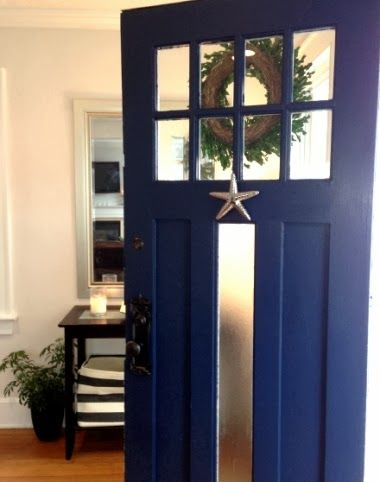Lovely Navy Blue Entry Door