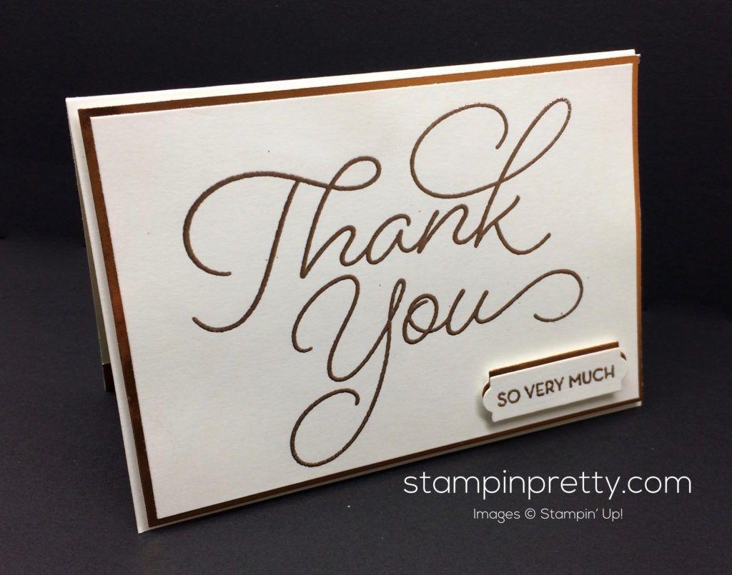 Beautiful Thank You Cards sale-a-bration peek: so very much thank you card | beautiful fonts