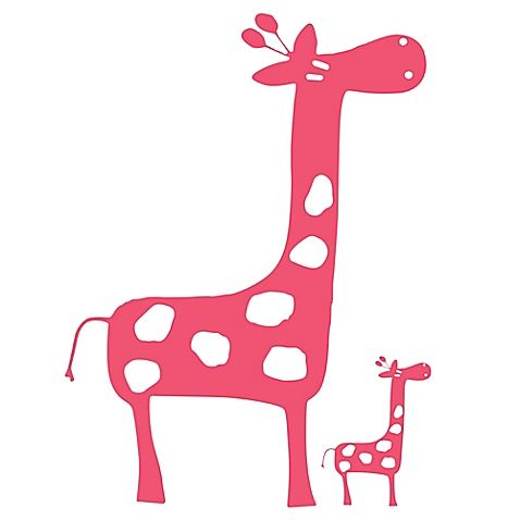 Glenna Jean Ellie & Stretch Giraffe Wall Decals in Pink (Set of 2)