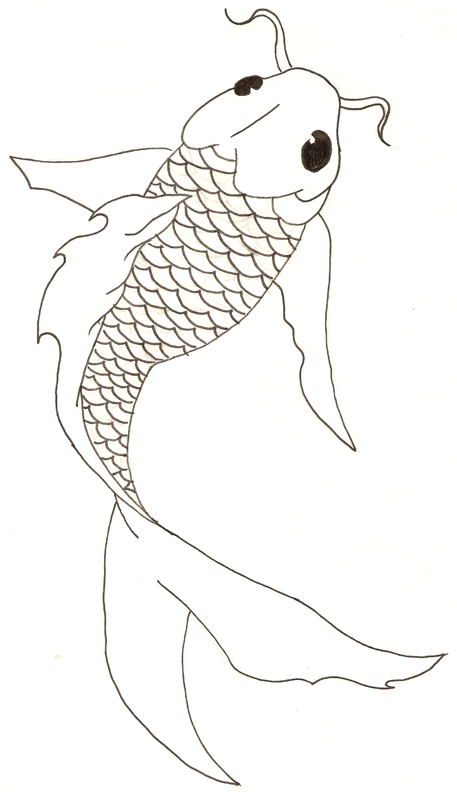 Uncategorized How To Draw A Koi Fish nice fish drawing could be adapted for stained glass koi free lineart