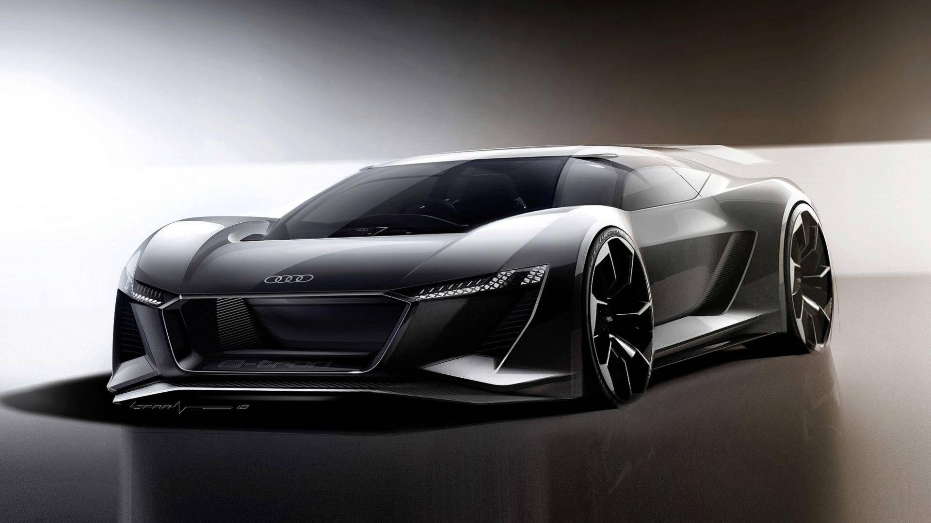 Audi Pb18 E Tron Concept Is A Driver S Car From The Future Carscoops Concept Car Design Audi Audi E Tron