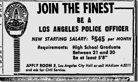 1961 Be A Los Angeles Police Officer Police Crime Los Angeles History Lapd