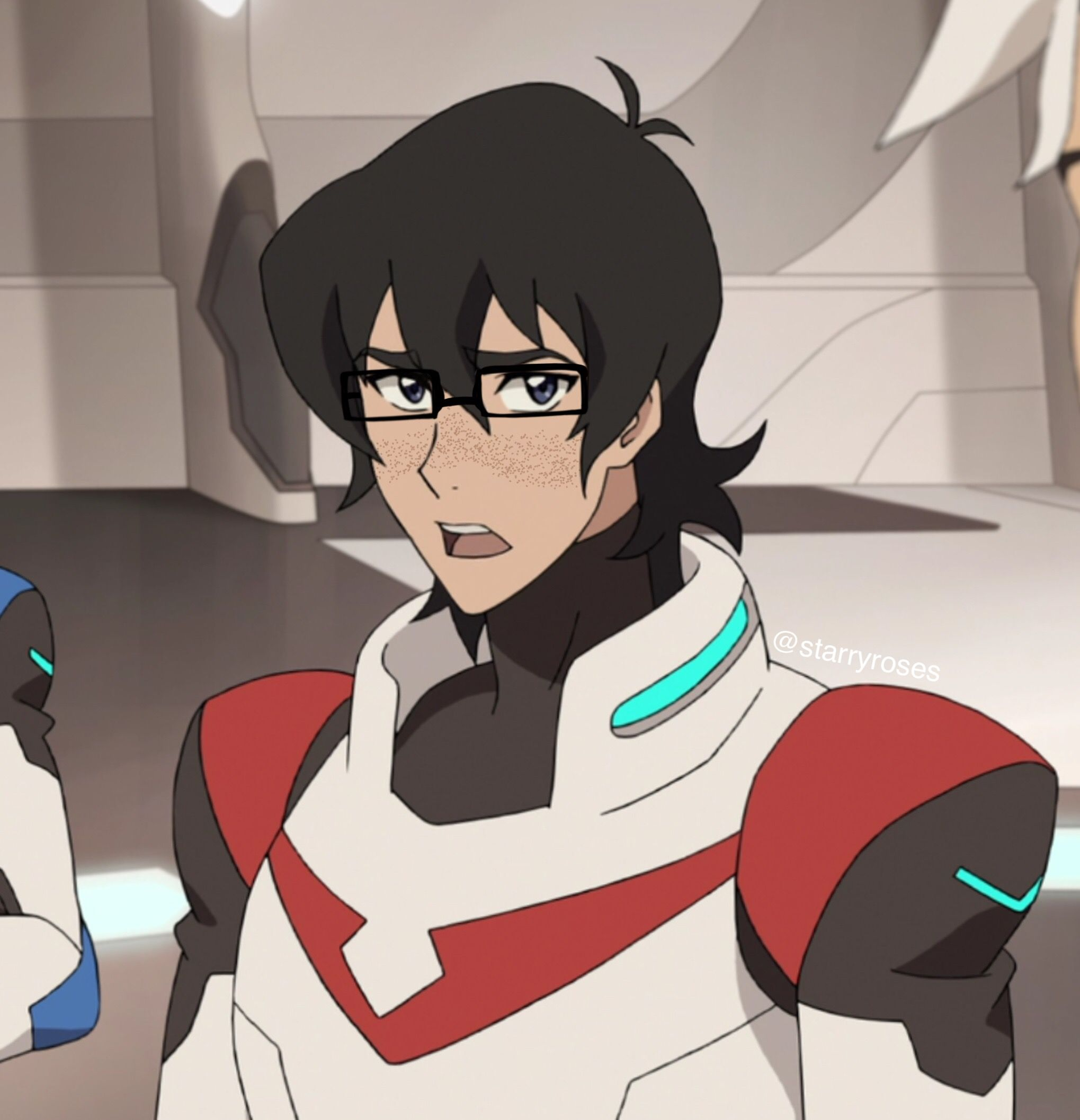 here's uuh,, keef with glasses and freckles, a concept,   80s voltron, Voltron, Voltron klance