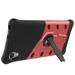 Shockproof With Stand 360 Rotation Back Cover Contrast Color Hard PC Case For Sony Xpreia XA1