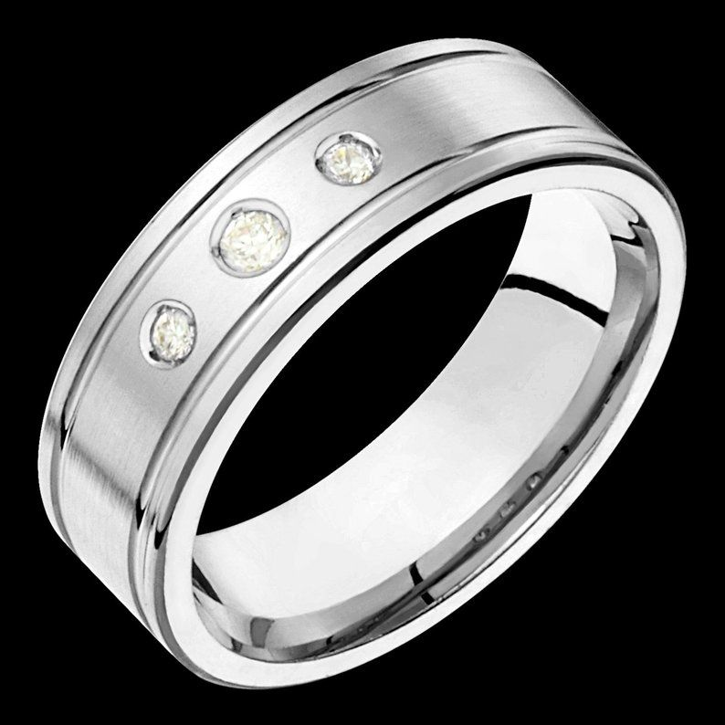 7mm wide comfort fit 10k white gold solid not plated