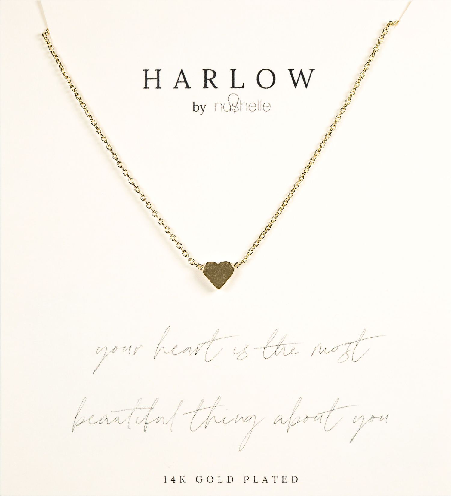 Harlow Box Set Small Heart Necklace Your Heart Is the Most Beautiful Thing About You  The box set collection from our HARLOW by Nashelle was Designed in Bend Oregon and e...