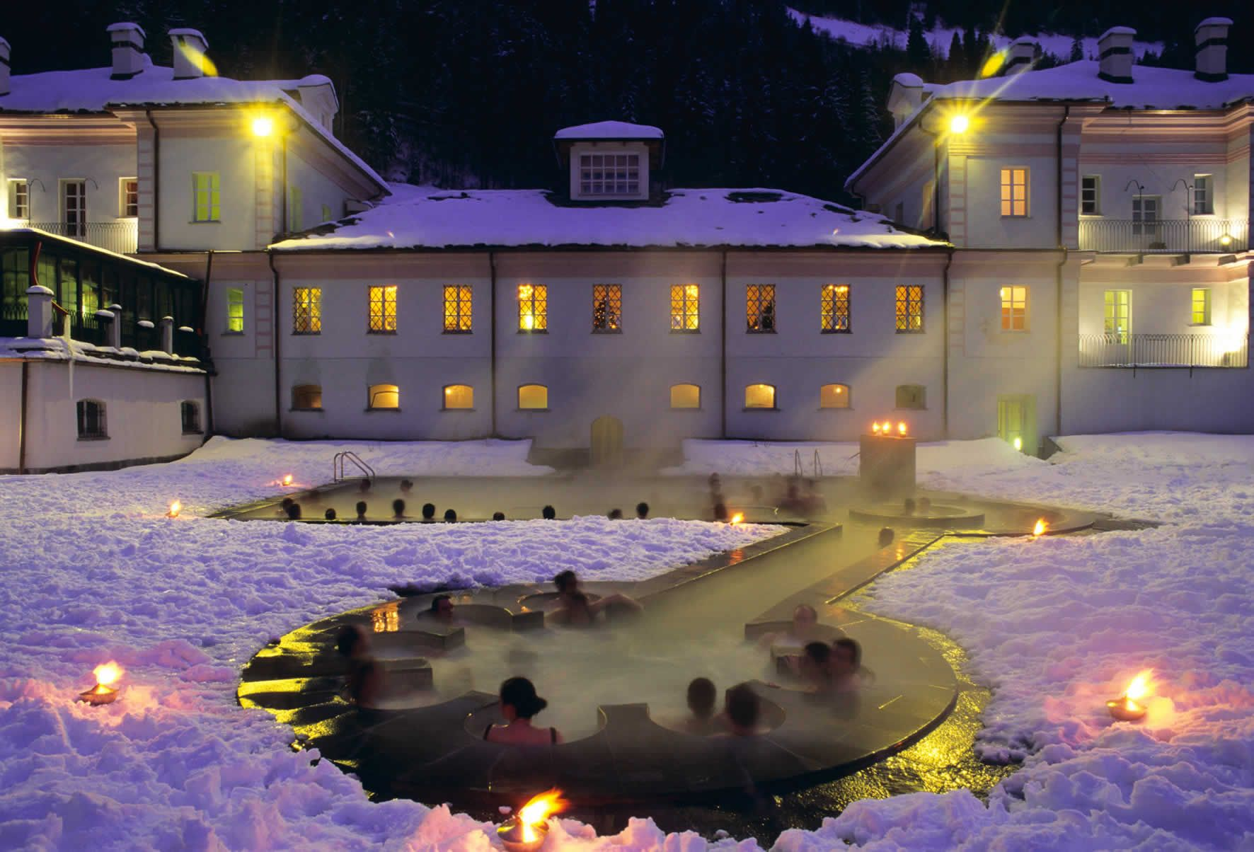Thermal springs , Pre Saint Didier, Aosta Italy