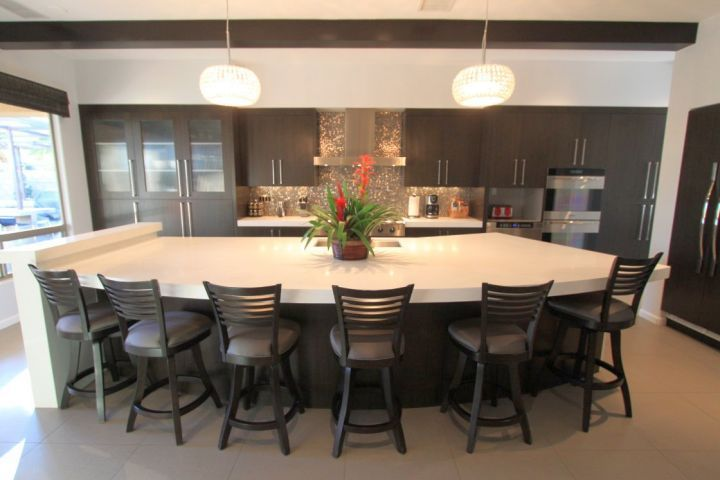 Good Kitchen Island With Seating For Six Half Moon Shaped