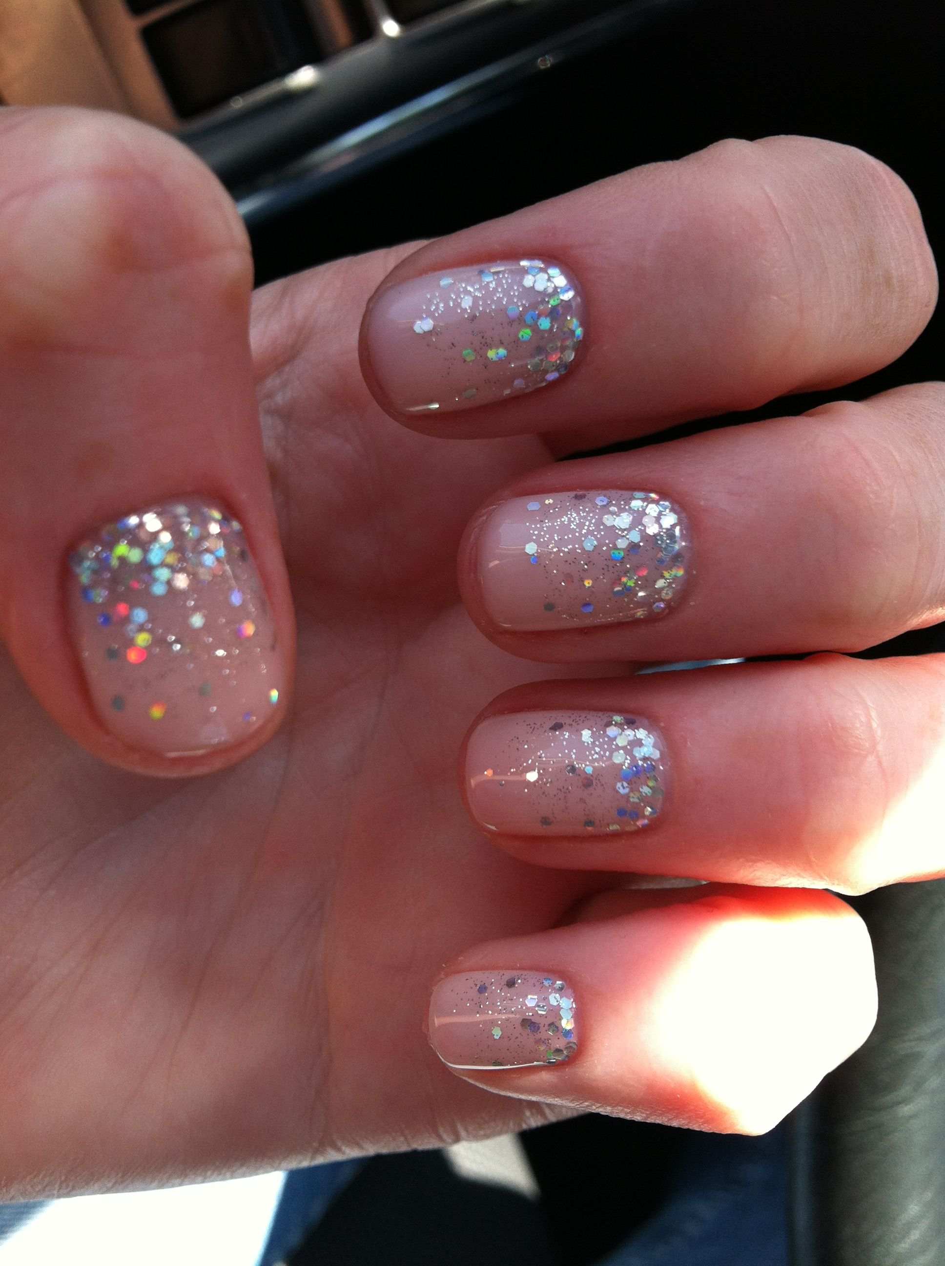 Sparkle Fade Wedding Nails Love Wedding Ideas Pinterest Faded Nails Manicure And Wedding