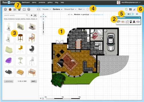 Floorplanner Com Free Online Tool For Creating Floor Plans Create Floor Plan Floor Planner Interior Design Software