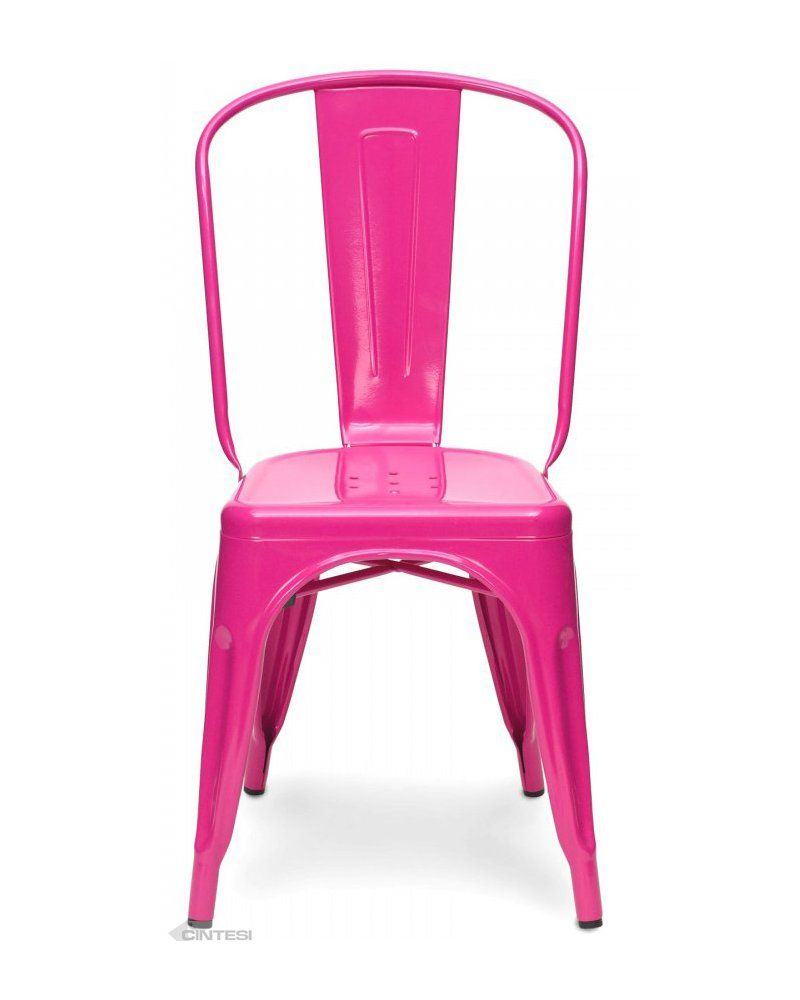Pink Tolix Chair Replica By Cintesi Looking For New Hotfoot Office Chairs Cute But Maybe Not That Comfy Metal Bistro Chairs Metal Side Chair Tolix