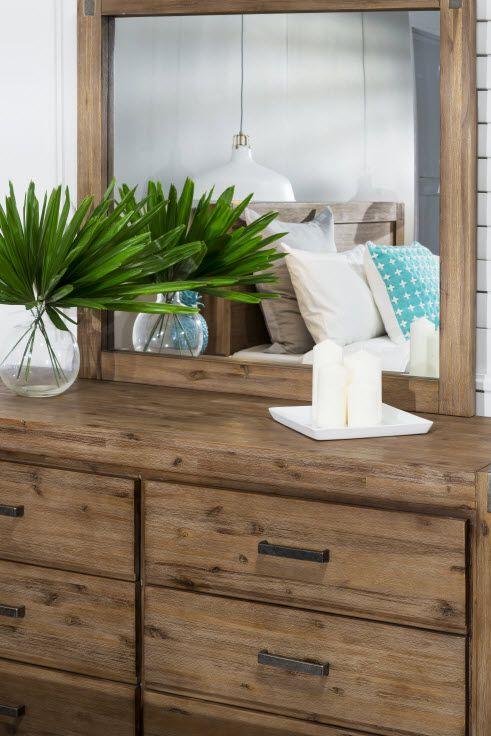 Queen Bedroom Suite: Silverwood 5 Piece Dresser Queen Bedroom Suite