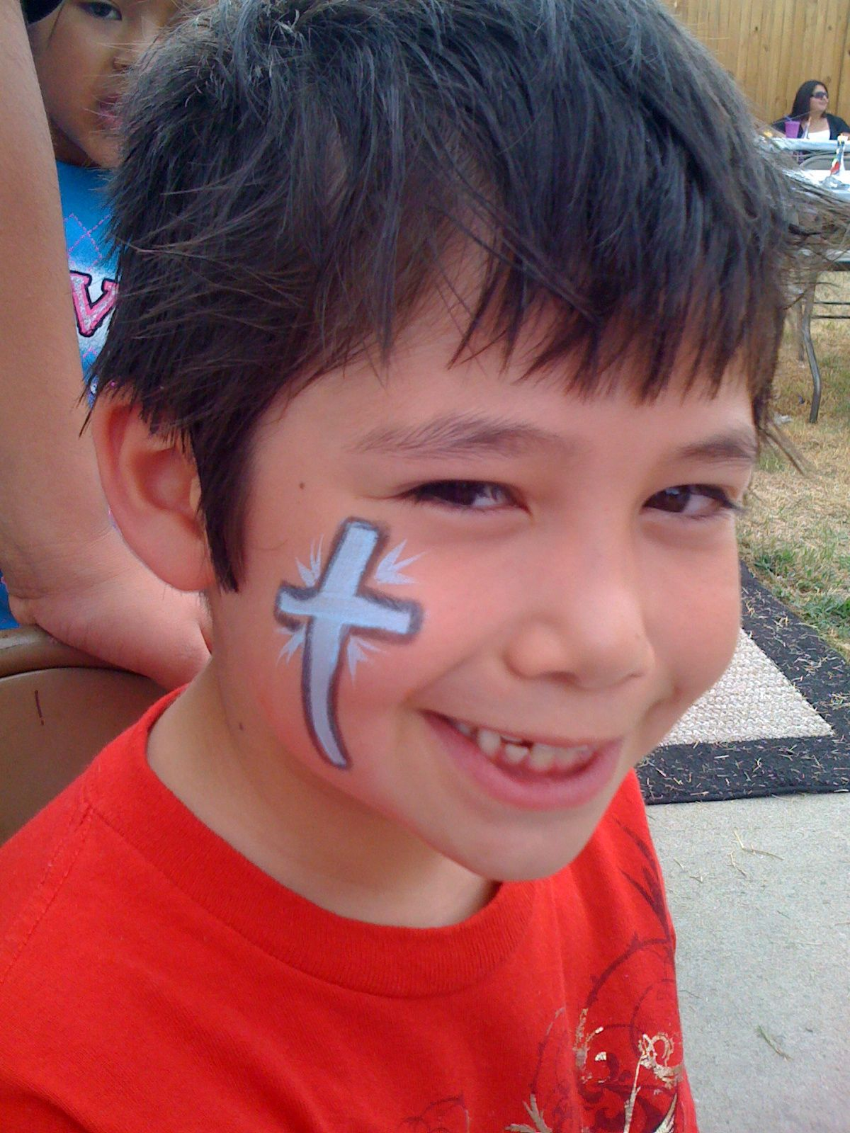 Face+painting+crosses