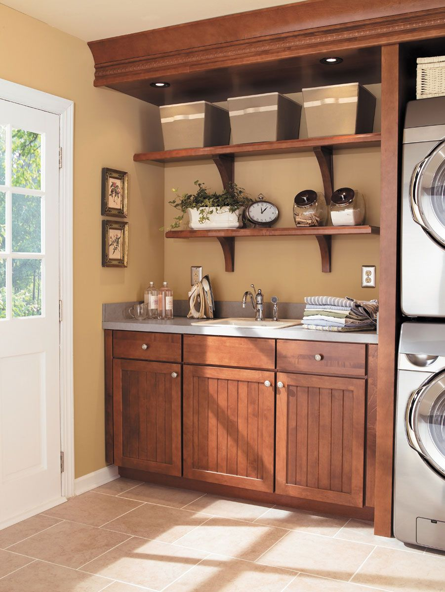 Laundry Room Cabinets Waypoint Living Spaces Style 642 in Maple