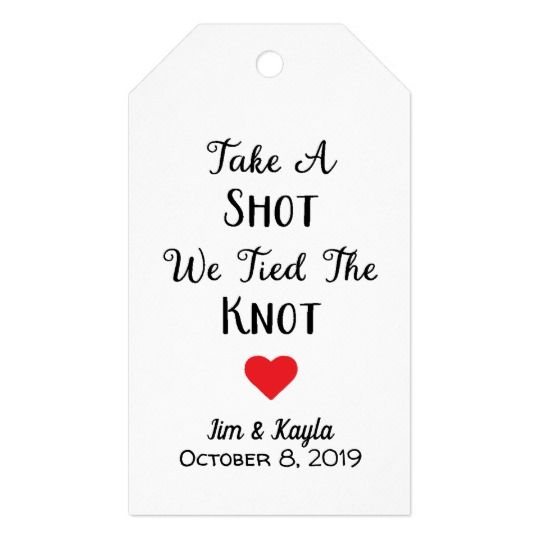 we are tying the knot