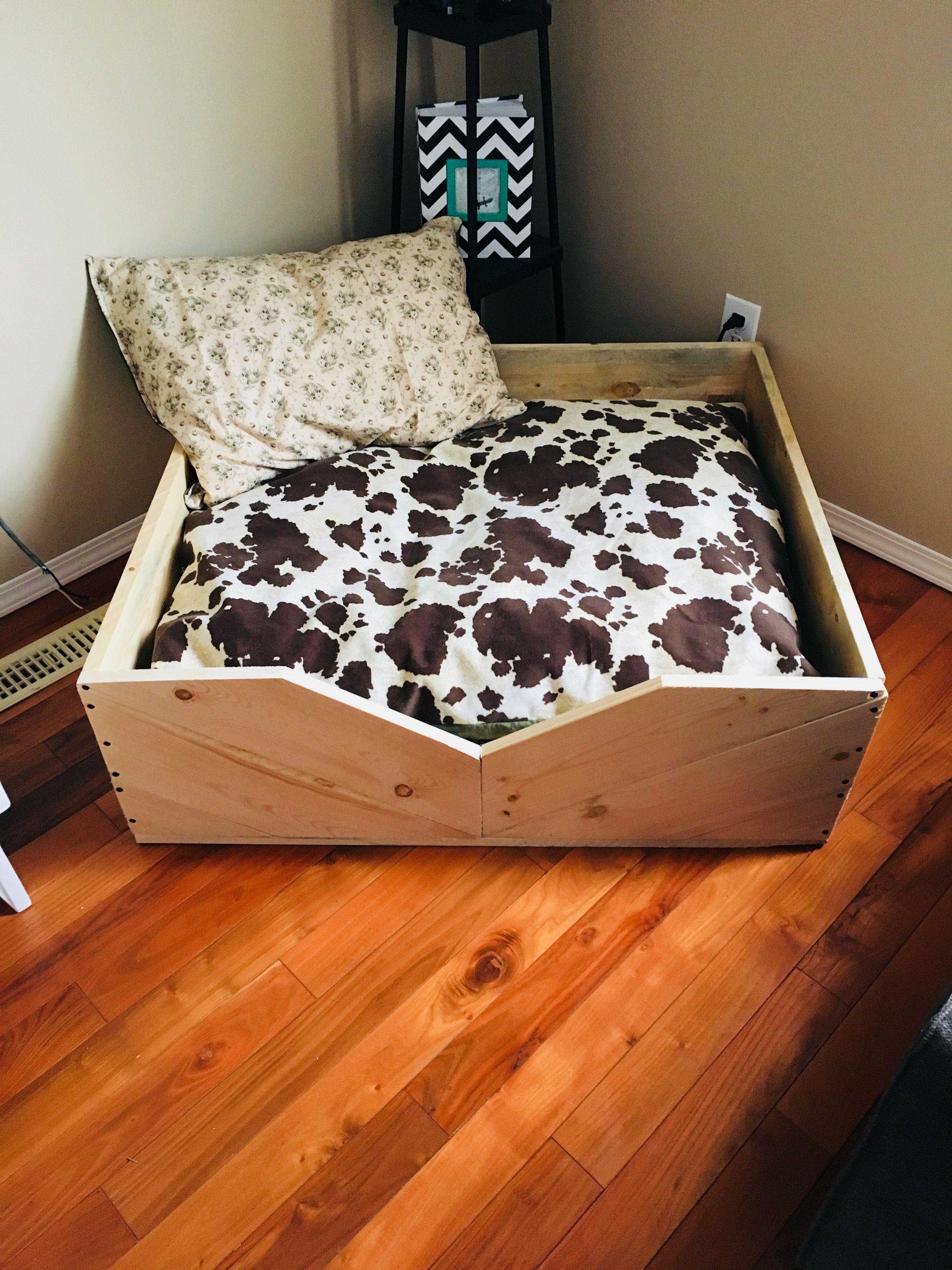 diy dog bed pallet wood puppy bed pallet bed cow print diy wood
