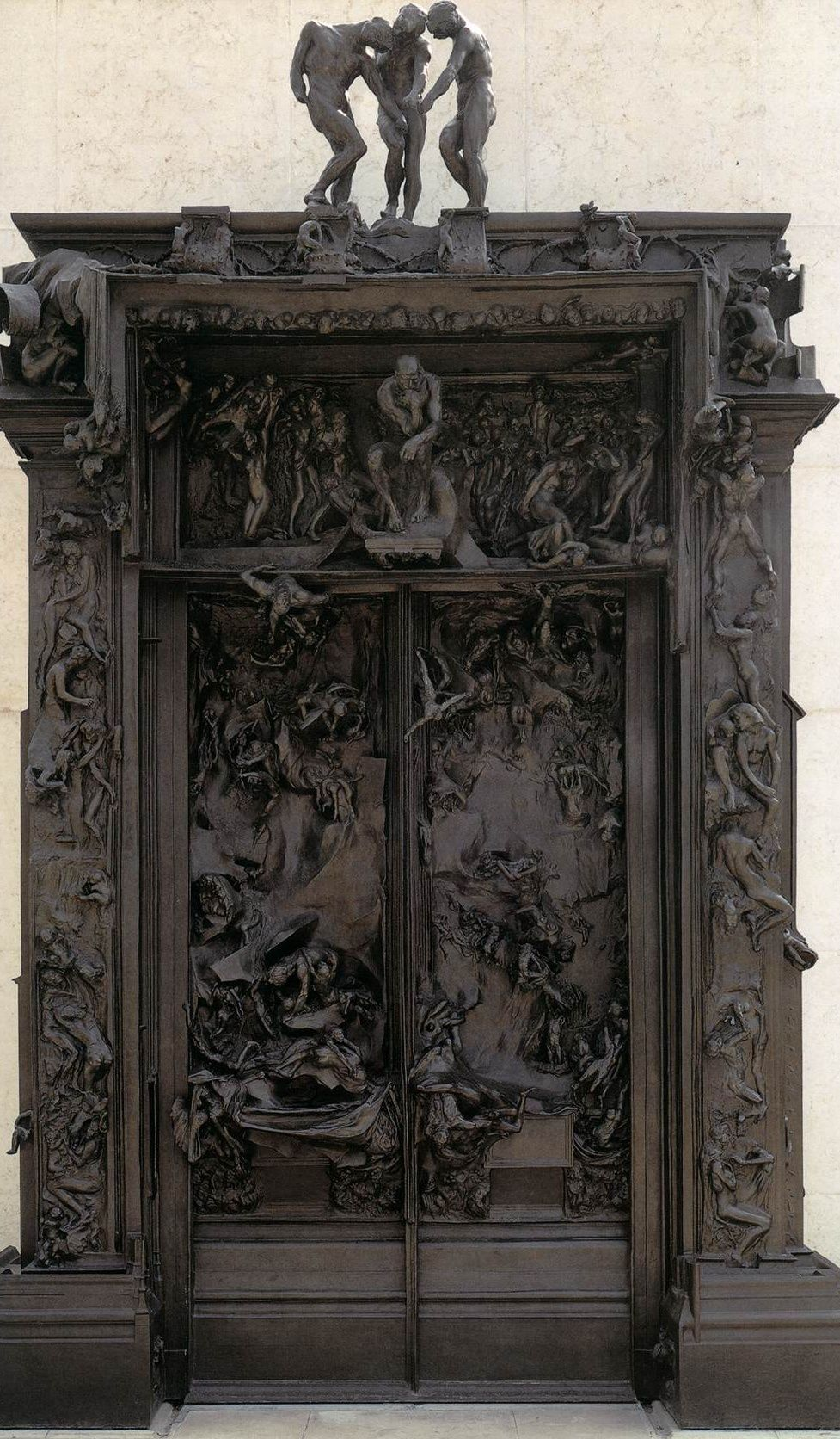 "Auguste Rodin' Massive Sculpture "" Gates Of Hell"" In"