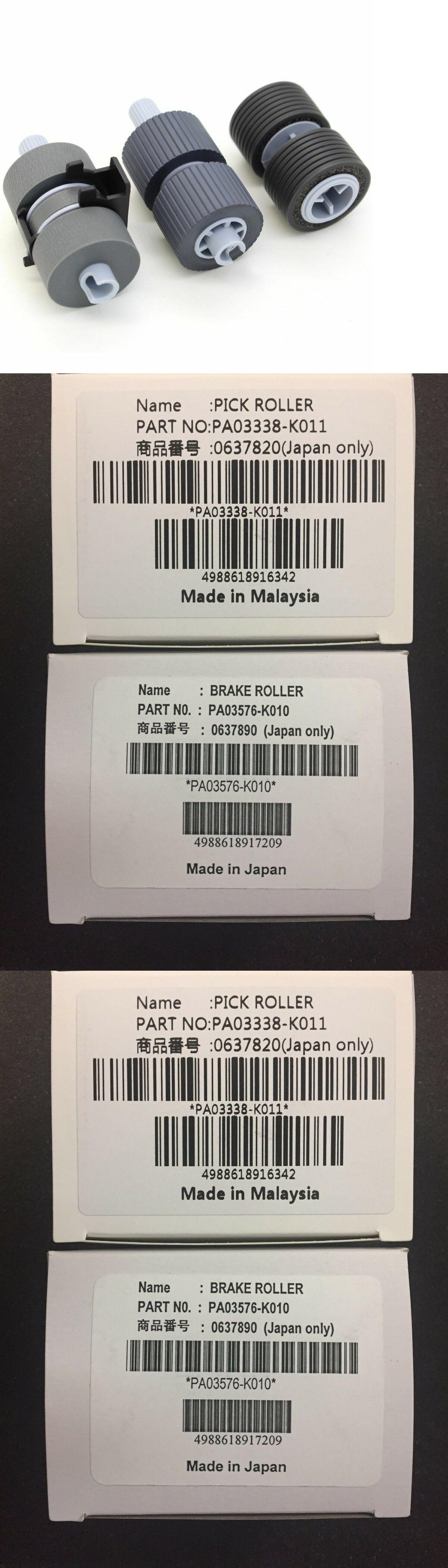 Scanner Brake and Pick Roller Set PA03338-K011 PA03576-K010 For Fujitsu Fi-6670
