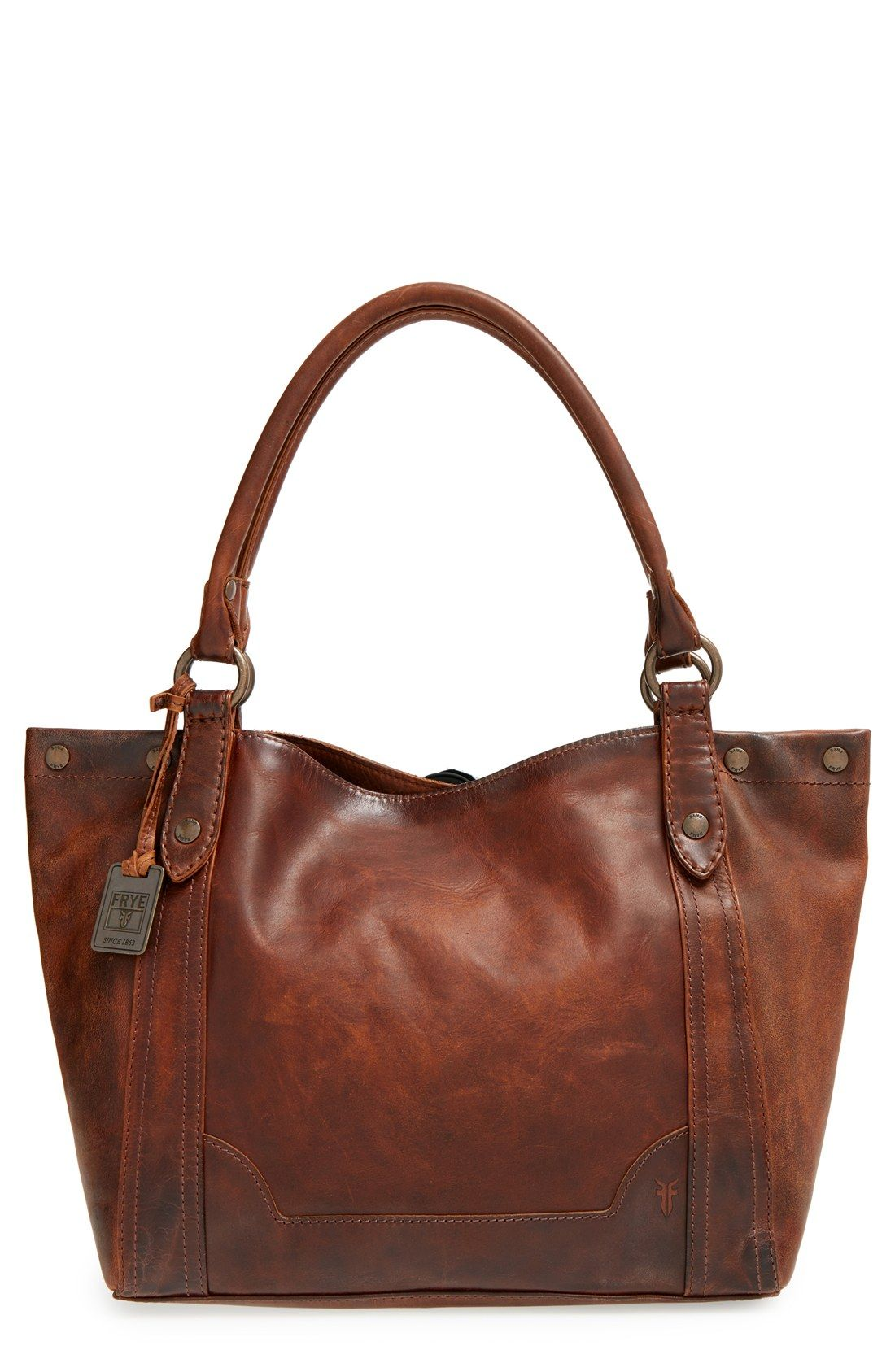 Frye Melissa Washed Leather Tote Nordstrom Brown Purses Purse