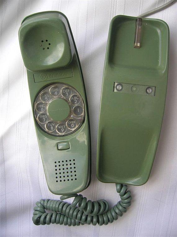 phone vintage rotary green low voltage 60s old. Black Bedroom Furniture Sets. Home Design Ideas