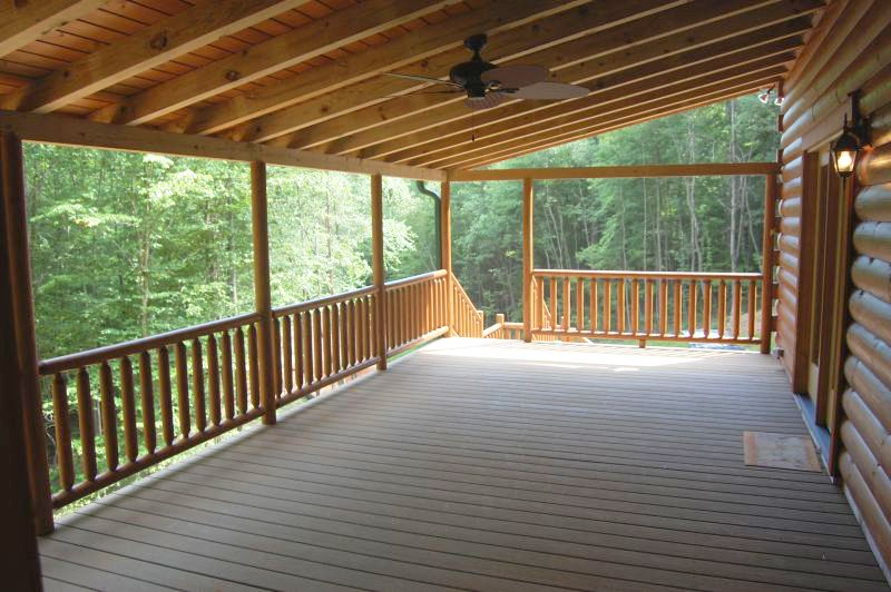 Blowing rock deck log home series by blue ridge log cabins for Log home decks