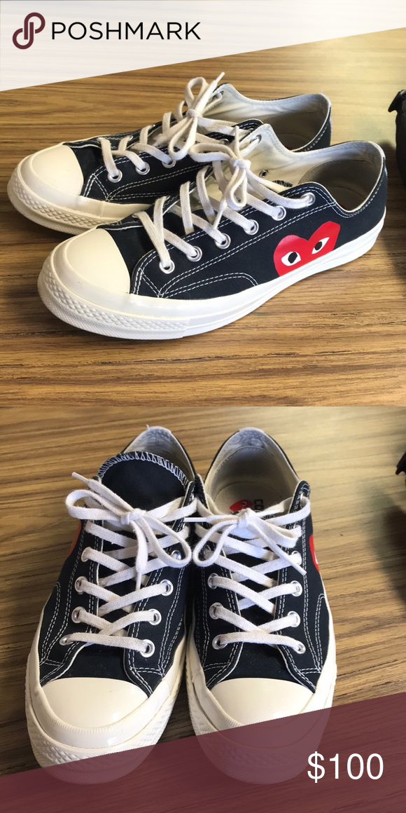5390d7a63420 CDG CONVERSE SIZE 8 these shoes fit big. i am a size 9.5 and they fit me  perfect Comme des Garcons Shoes Sneakers