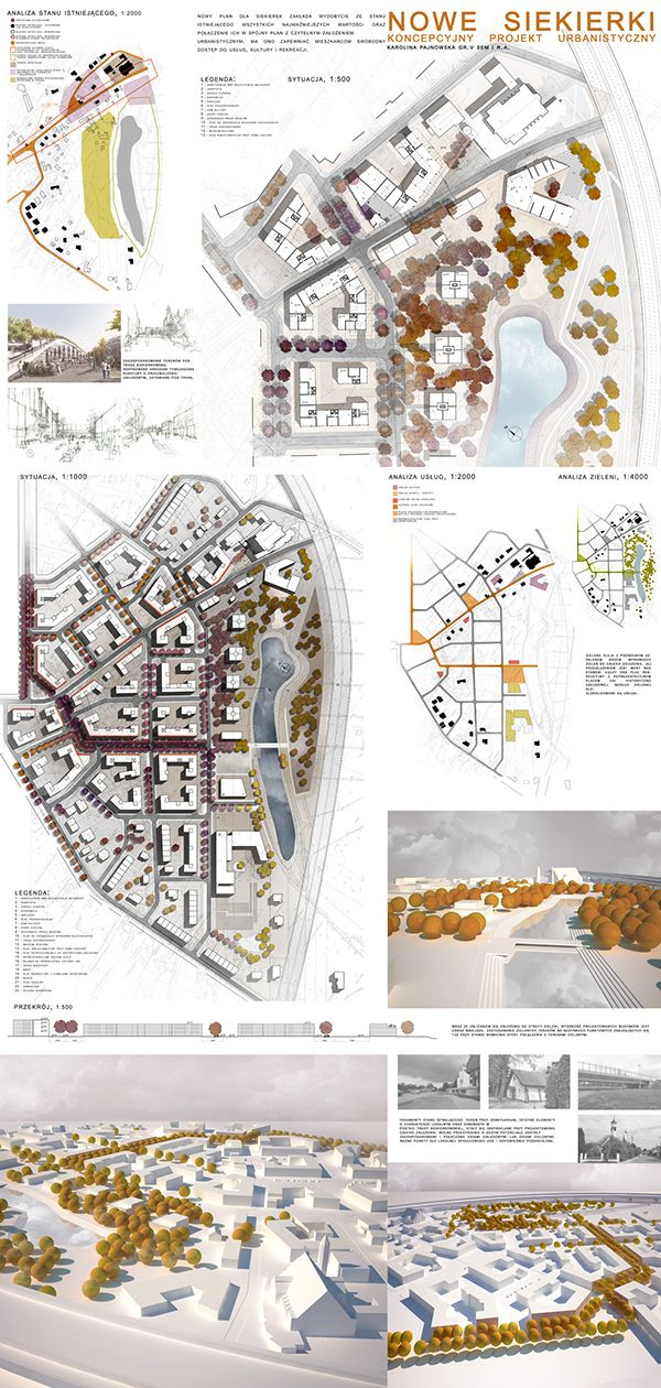 Student Urban Project  The Masterplan For Siekierki District