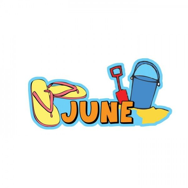 June Calendar Heading : Month of june months the year