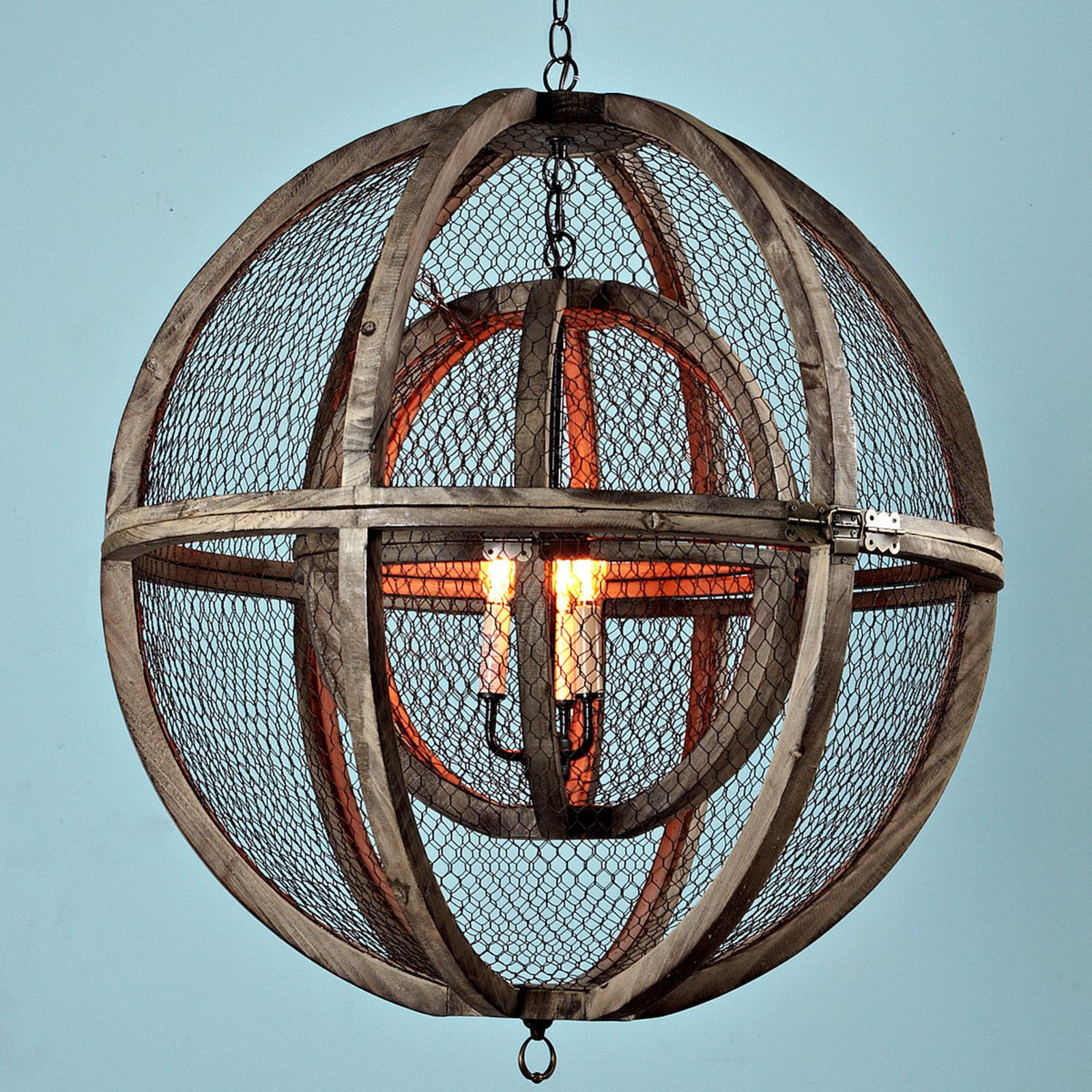 Double Sphere Wire Chandelier | Chandeliers, Lights and Room
