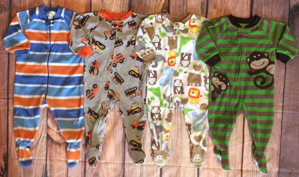 8bdbeeeba Carter s Boys 12 18 Month Fleece Footed Pajamas Sleepwear ...