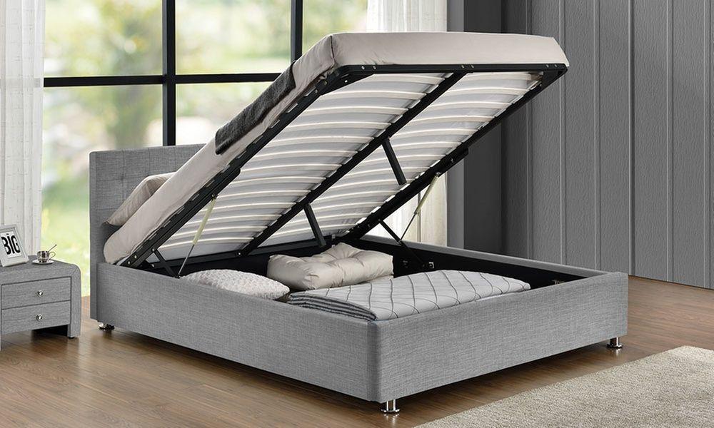 lit coffre diva en lin avec matelas en