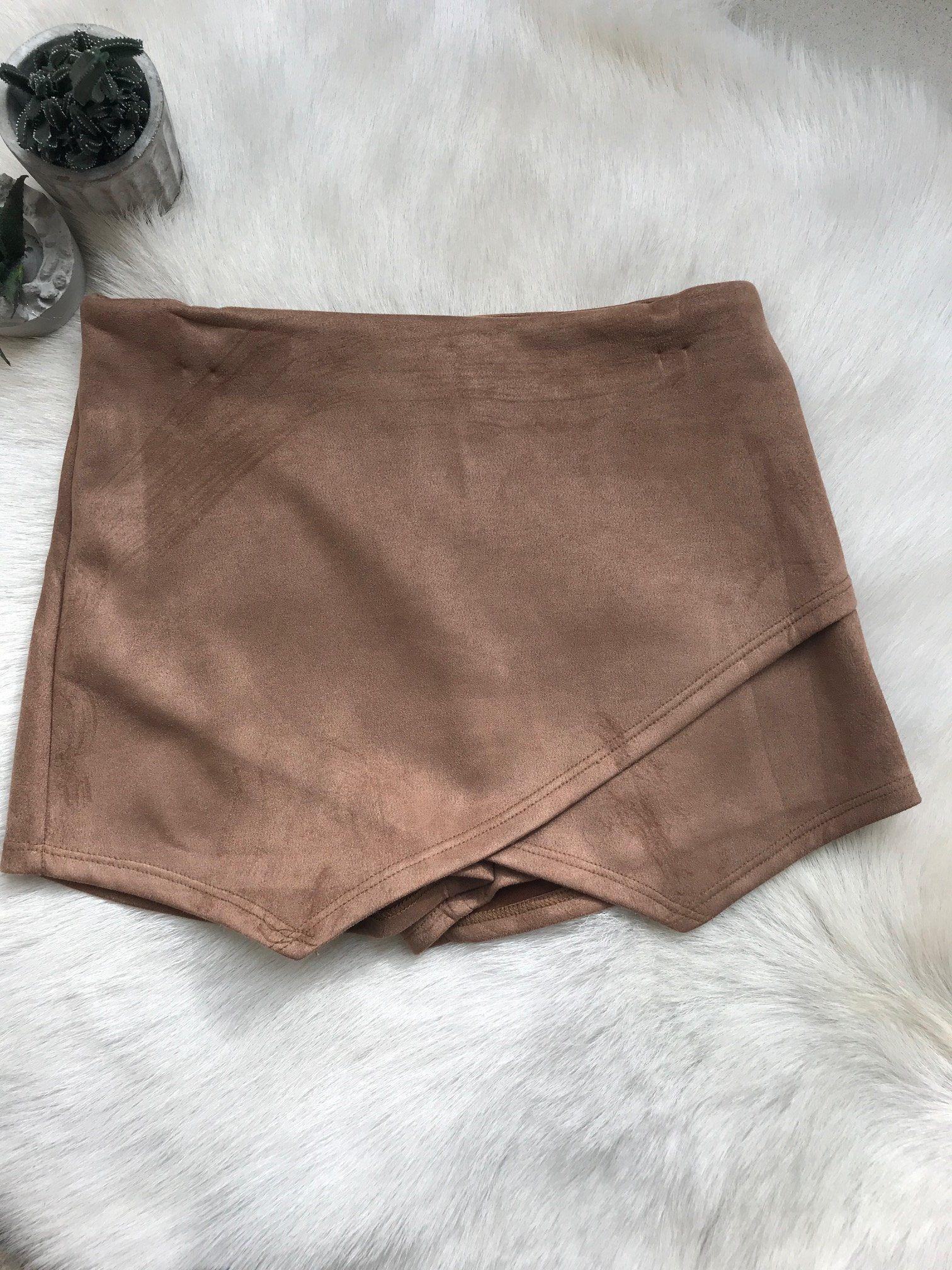 0360a8e355 Sahara Suede Envelope Skort | clothes | Skort outfit, Envelope skirt ...
