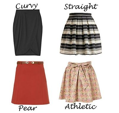 Skirts to flatter your body shape figure :)