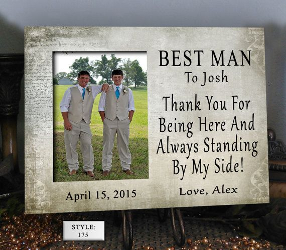 BEST MAN Wedding Gift Present Thank By PhotoFrameCompany