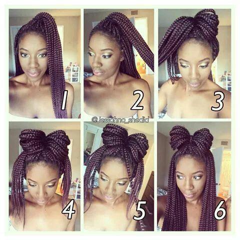box braids bow pictorial les cheveux pinterest box