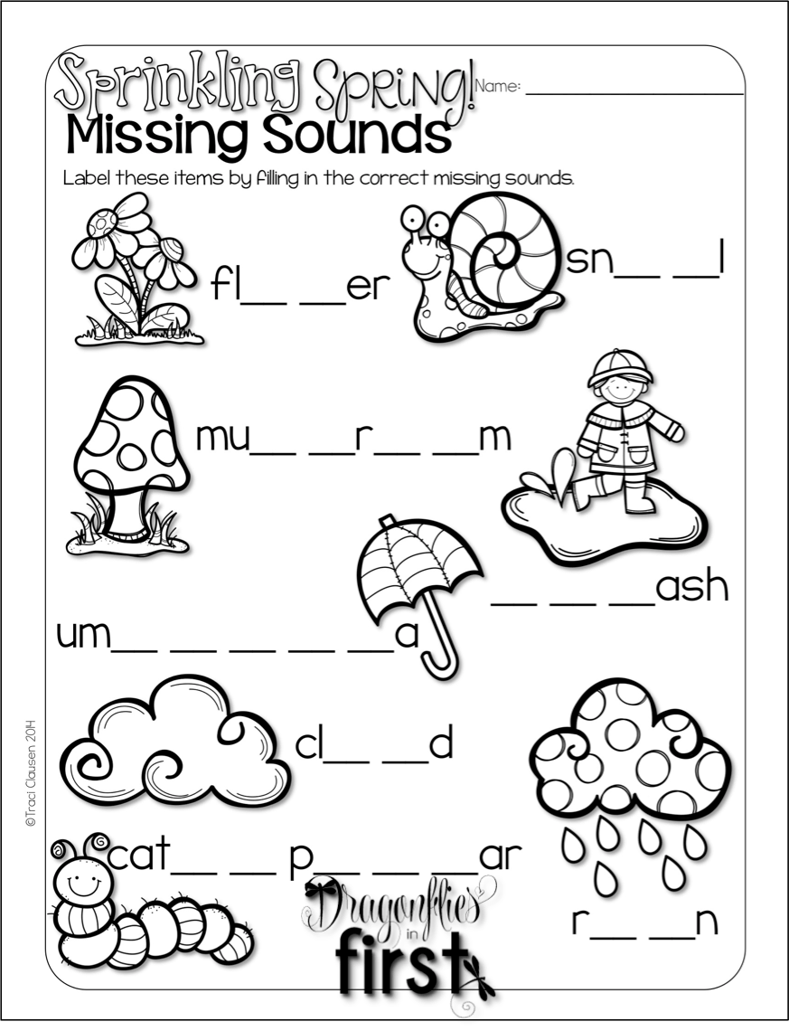 Spring Activities Word Work, Reading Writing & Crafts