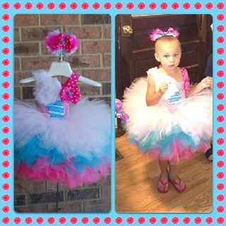 Cotton Candy Dream Tutu Dress By Elki Inspirations. Find us on Facebook :)