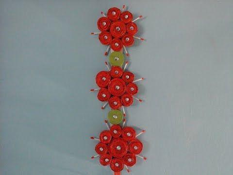 Diy Home Decor How To Make Fabric Flower For Wall Decor Easy Tutorial