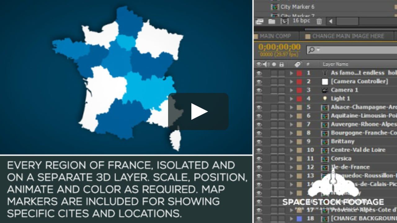 motiongraphic animation 4k bordeaux europe flag francais