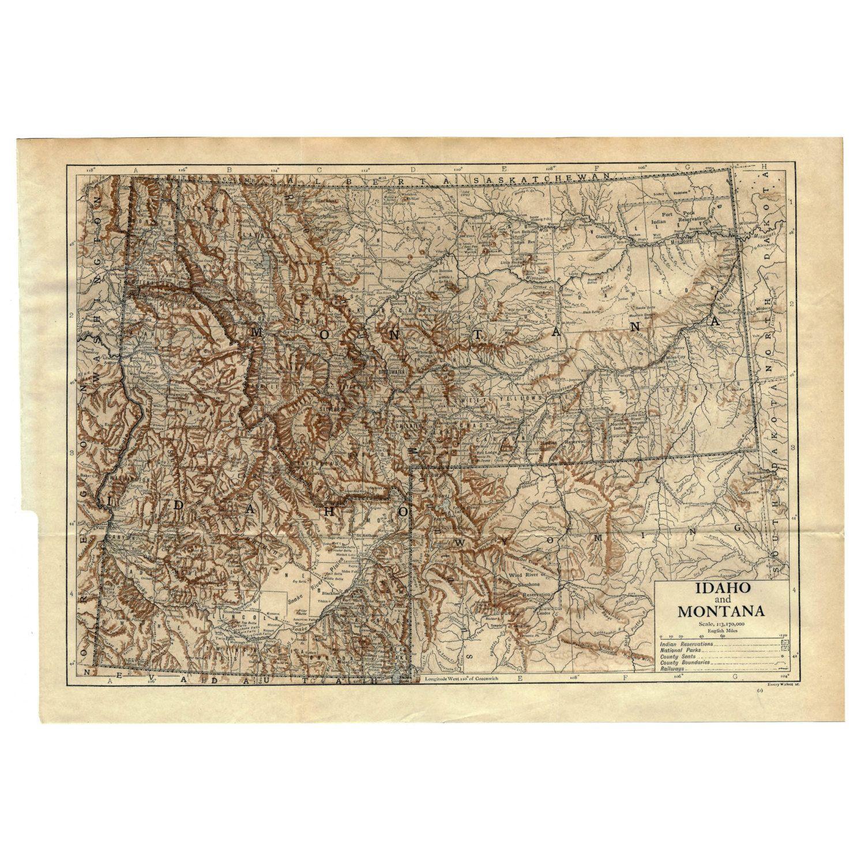 Arizona Instant Download Pre World War I Antique Map 1910 Sepia