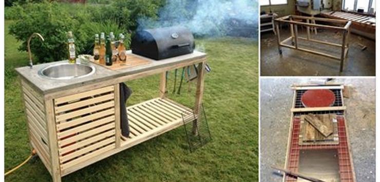 Un petit coin barbecue construit tape par tape id al for Meuble exterieur barbecue