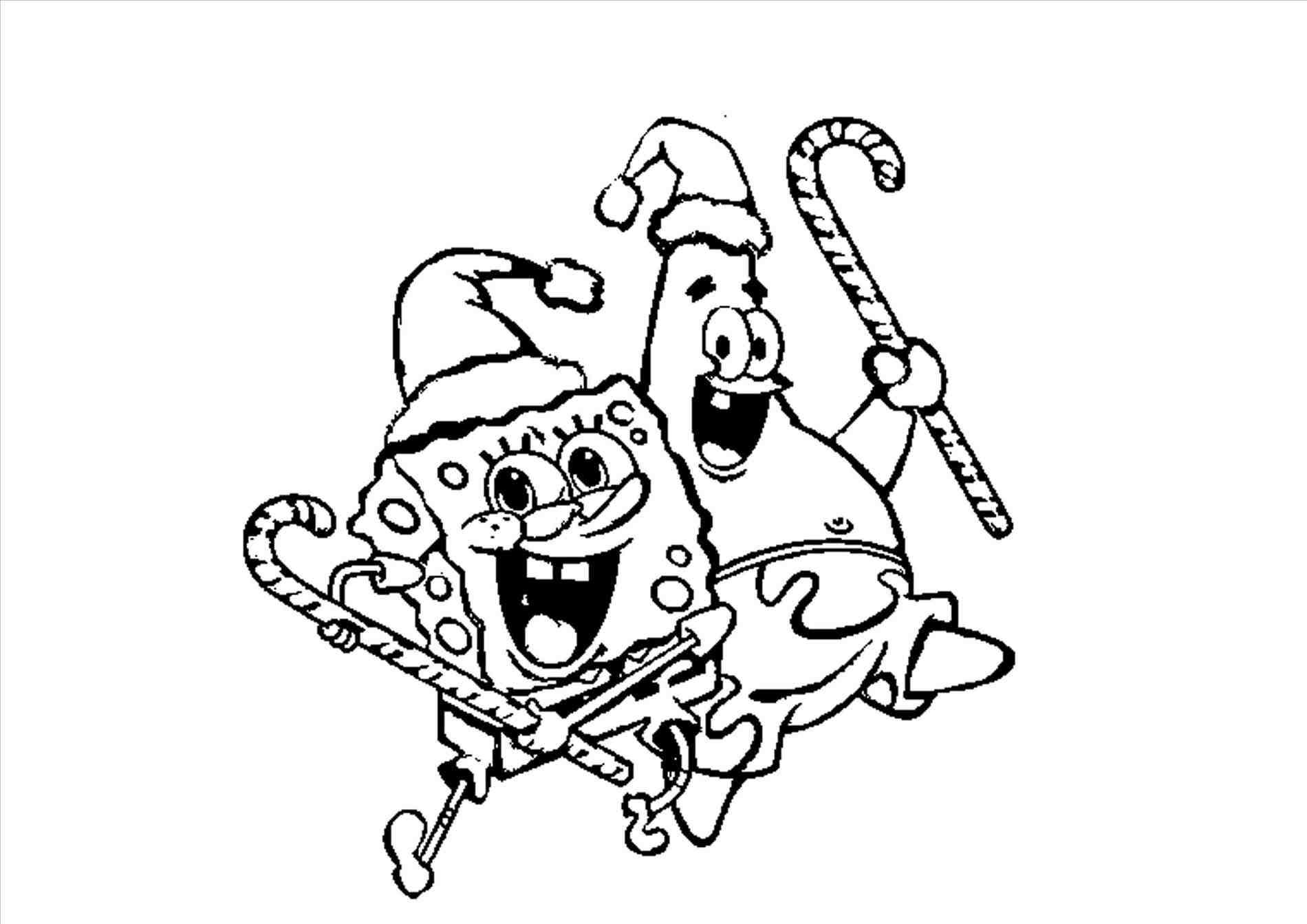 New Post spongebob and patrick christmas coloring pages