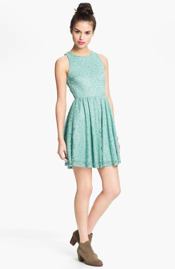 Found my navy lace dress (shown in mint) Soprano Lace Skater Dress ...