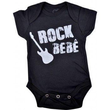 body bebê divertido frase rock bebê em suedine nuvem baby   kids. Moda bebê 6c235774a8b