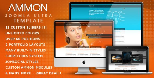 Ammon - JomSocial Ready Template for Joomla | CMS Themes and Website ...
