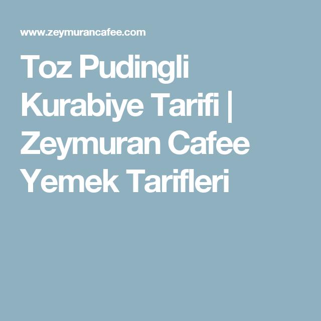 Toz Pudingli Kurabiye Tarifi | Zeymuran Cafee Yemek Tarifleri