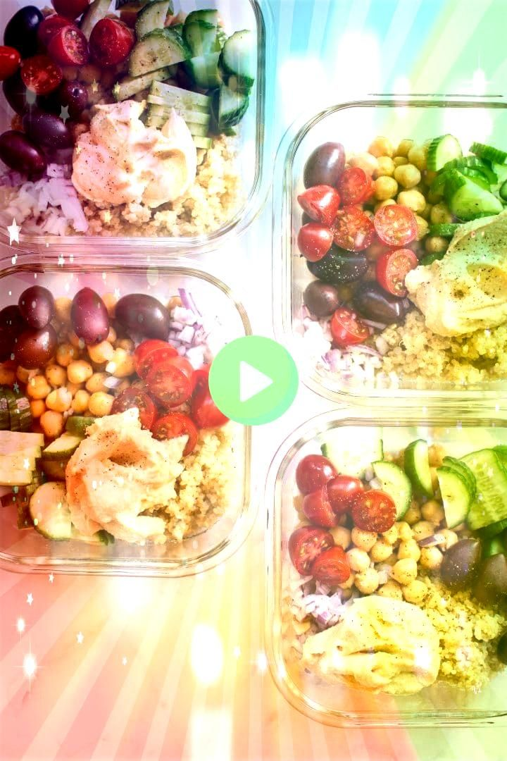 Vegan Meal Prep Bowls  Mediterranean Vegan Meal Prep Bowls   4 Kids Valentines Snack EASY healthy snacks for the little loves in your life Perfect for Valentines Day Clas...