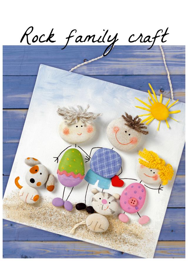 Rock Family Craft Rock Crafts Crafts Stone Crafts