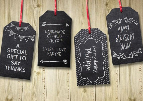 photo relating to Printable Hang Tags known as Chalkboard editable reward tags blackboard words editable