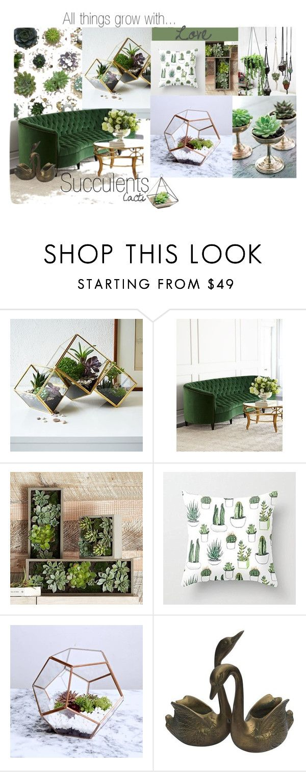 """Cacti+Succulents"" by kal2698 ❤ liked on Polyvore featuring interior, interiors, interior design, home, home decor, interior decorating, West Elm, Old Hickory Tannery, PBteen and succulents"
